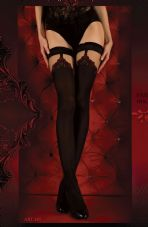 Ballerina 345 Hold Ups Nero (Black)/Red